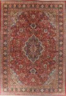 Antique Vegetable Dye Palace Sized Sarouk Persian Rug