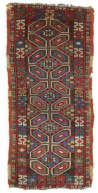 Handmade antique collectible Turkish Yastik rug 1.5' x