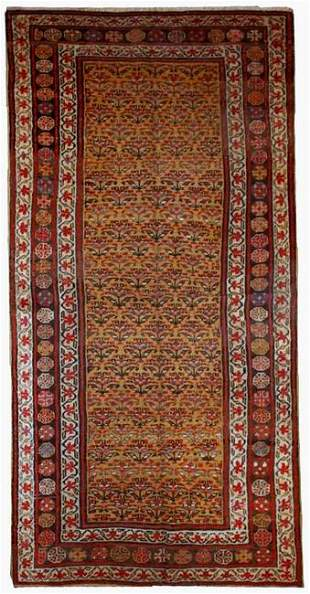 Hand made antique Persian Kurdish rug 4.1' x 7.7' (