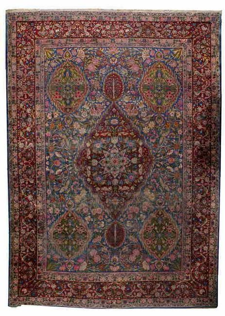 Hand made antique Persian Yazd rug 9.8' x 13.5' ( 298cm