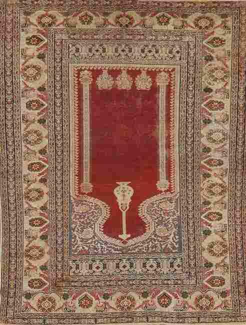 Pre-1900 Antique Vegetable Dye Anatolian Turkish Area