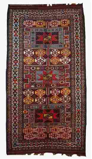 Handmade antique Persian Kurdish rug 4' x 8' ( 122cm x