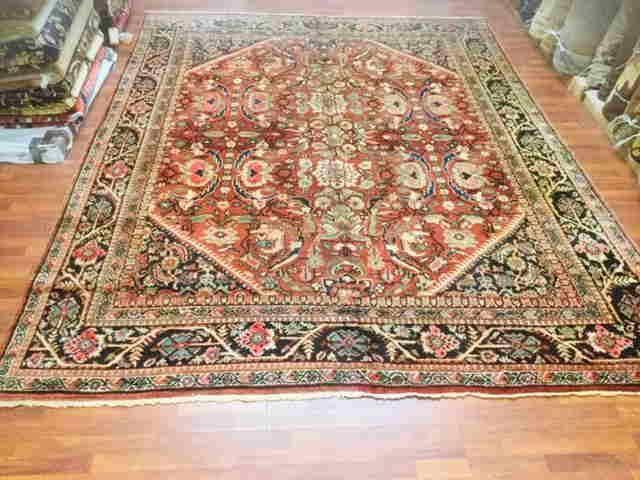 Antique Persian Mahal Rug -1404