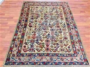 Antique persian Bird design Shiraz tribal rug,