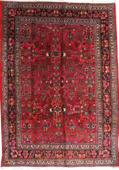 Handmade antique Persian Hamadan rug 8.9' x 11.2' (