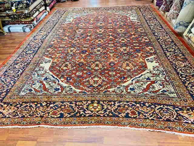 """Antique Persian Zigler Mahal Rug,excellent. 10'.3""""x 14'"""