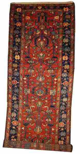 Handmade antique Persian Lilihan runner 3.3' x 10.2' (