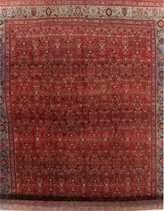 Vegetable Dye Antique Floral Bidjar Persian Wool Rug