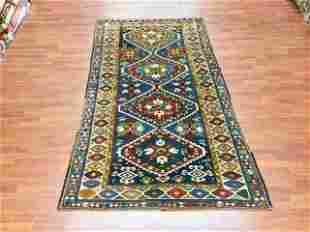 Antique Kazak Caucasian rug-4686