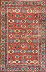 Antique Vegetable Dye Shirvan Russian Area Rug Wool 4x6