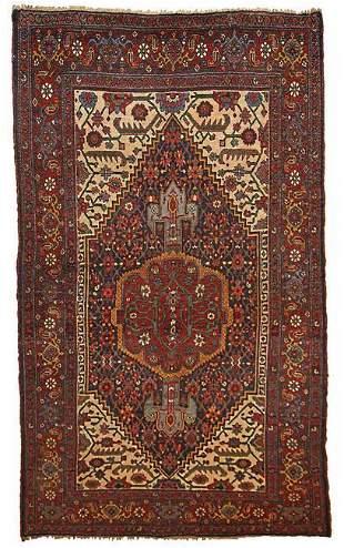 Handmade antique Persian Bidjar rug 4.9' x 7.4' ( 149cm