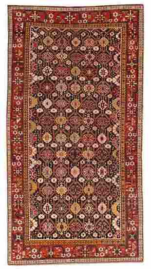 Handmade antique Caucasian Karabagh rug 5.6' x 10.6'