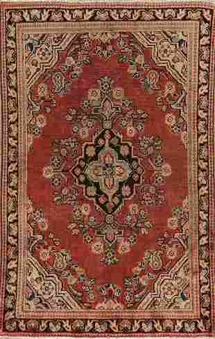 Antique Geometric Mahal Persian Area Rug 4x7