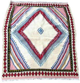 Handmade vintage Persian Ardabil kilim 3.3' x 3.7'