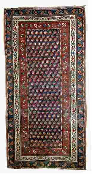 Handmade antique Caucasian Gendje rug 2.9' x 5.8' (