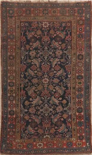 Pre-1900 Antique Vegetable Dye Bidjar Halvaei Persian