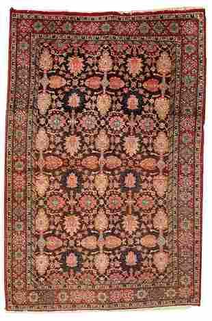 Handmade antique Persian Bidjar rug 4.4' x 6.6' ( 134cm