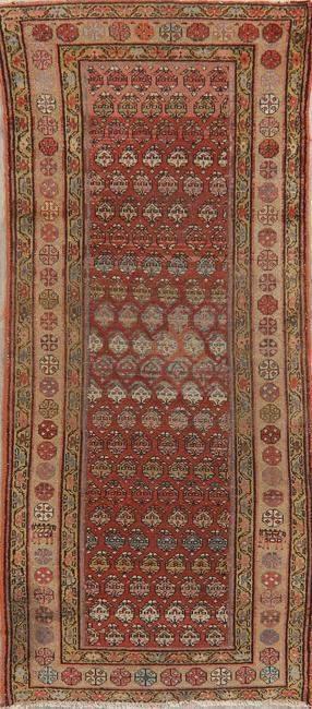 Pre-1900 Antique Vegetable Dye Malayer Persian Rug 3x8