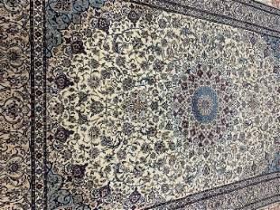 Semi Antique Hand Woven Persian Silk&Wool 6 La Nain