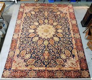 Hand Knotted Persian Kashan 12.1x8.5 ft