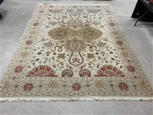 Hand Knotted Agra Heriz 9x12 ft