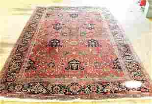 Hand Knotted Persian Heriz 11.3x8 ft