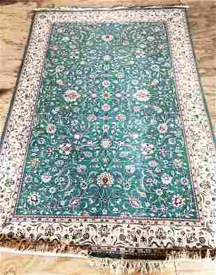 Hand Knotted Indo Tabriz 6.1x8.10 ft