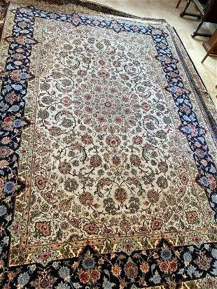 Hand Knotted Persian Esfahan 10.3x6.8 ft