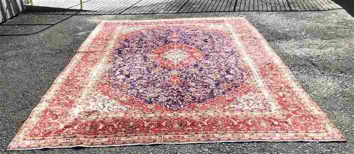 Hand Knotted Persian Kashan 13.4x9.5