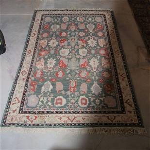 Hand Knotted Agra Flat Woven Heriz 7x10 ft