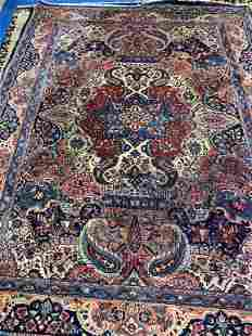 Hand Knotted Persian Sarouk 10x8 ft