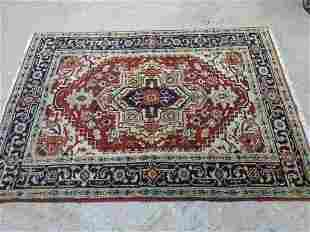 Hand Knotted Persian Heriz Rug 5.10x4 ft