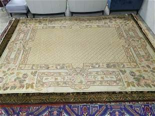 Hand Knotted Indo Tabriz Rug 9.6x7.8 ft