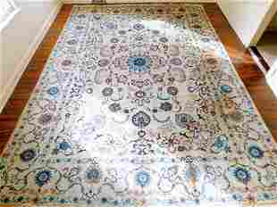 Hand Knotted Persian Kashan Rug 10.5x14 ft