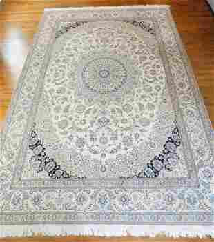 Hand Knotted Persian Nain Rug 12x8.5 ft