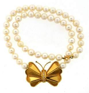 CHIC 18k Yellow Gold, Diamond & South Sea Pearl