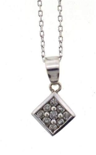 CUTE 14k White Gold & Diamond Necklace!