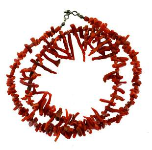 CORAL BRANCHES NECKLACE VINTAGE C.1960 STRAND GORGEOUS