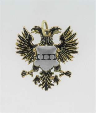 UNIQUE Austro Hungarian Enamel, Yellow & White Gold