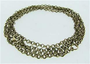 FUN Silver Chain with Gold Wash Necklace Circa 1960s!