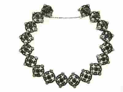 ANTIQUE VICTORIAN C1900 14K GOLD SILVER DIAMON SAPPHIRE