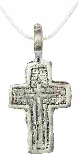 FINE EASTERN EUROPEAN CHRISTIAN CROSS NECKLACE