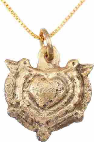 FINE VIKING HEART NECKLACE C.900-1050 AD