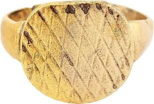 FINE ROMAN WOMAN'S RING C.100-400 AD SIZE 5 1/2