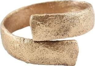 ANCIENT VIKING COIL RING C.900-1050 AD SZ 9.