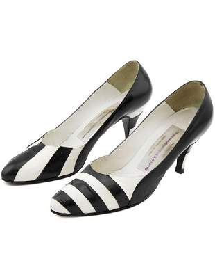 Susan Bennis Warren Edwards Black and White Striped