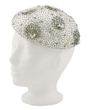 Anonymous Silver Beaded & Embellished Beret