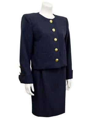 Yves Saint Laurent Black Skirt Suit