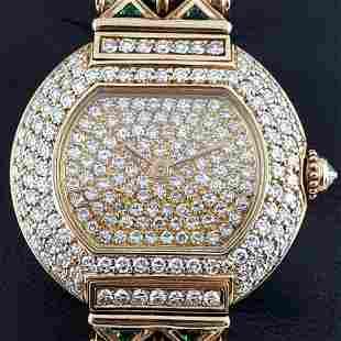 Cartier - Vintage Ellipse Factory Diamonds 18k Gold -