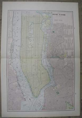Map of New York and Vicinity